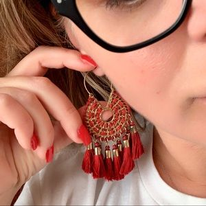 ♥️♥️♥️ Red Tassels Earrings ♥️♥️♥️